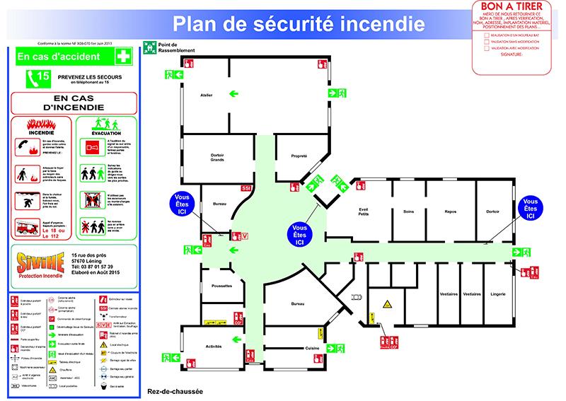 Plan d'évacuation Sivihe